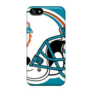 RareCases Iphone 5/5s Hybrid Tpu Case Cover Silicon Bumper Miami Dolphins