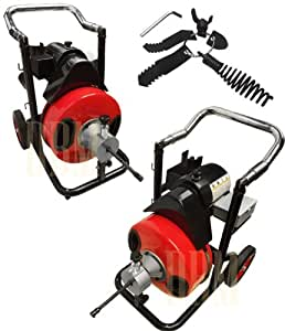 """1/2"""" Snake 50' Ft Electric Drain Auger Cleaner Cleaning Sewer Plumbing Cutter"""