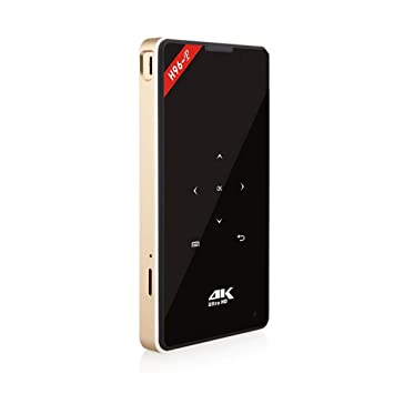 Funnyrunstore Tamaño pequeño 1GB + 8GB 4K HD Mini proyector 1080P ...