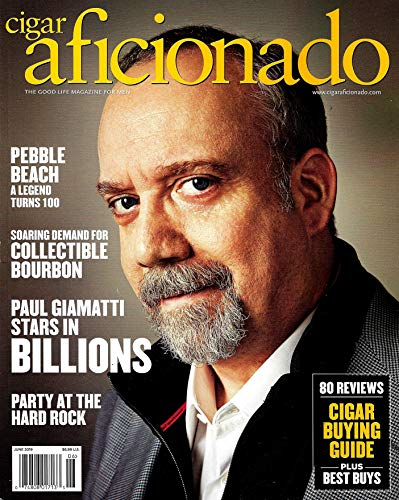 Cigar Aficionado Magazine June 2019 PAUL GIAMATTI Cover, Pebble Beach, Collectible Bourbon (Best Selling Cigars 2019)