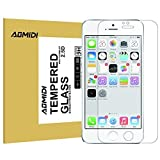 """iPhone 6S Screen Protector, AOMIDI Tempered Glass Screen Protector for Apple iPhone 6 6s 4.7"""", 0.3MM Thickness, 2.5D Round Edge, High Definition, 9H Hardness (CLEAR, 1 Pack)"""