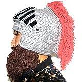 31ba770490f8 YEKEYI Wig Beard Hats Cosplay Roman Knight Knitted Helmet Winter Sports  Warmer Cap Ski Funny Mask