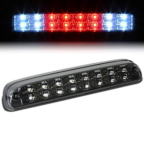 Smoked Housing Dual Row LED 3rd Tail Brake Light Cargo Lamp for Ford F250 F350 Super Duty 99-16 / Mazda B-Series 94-10