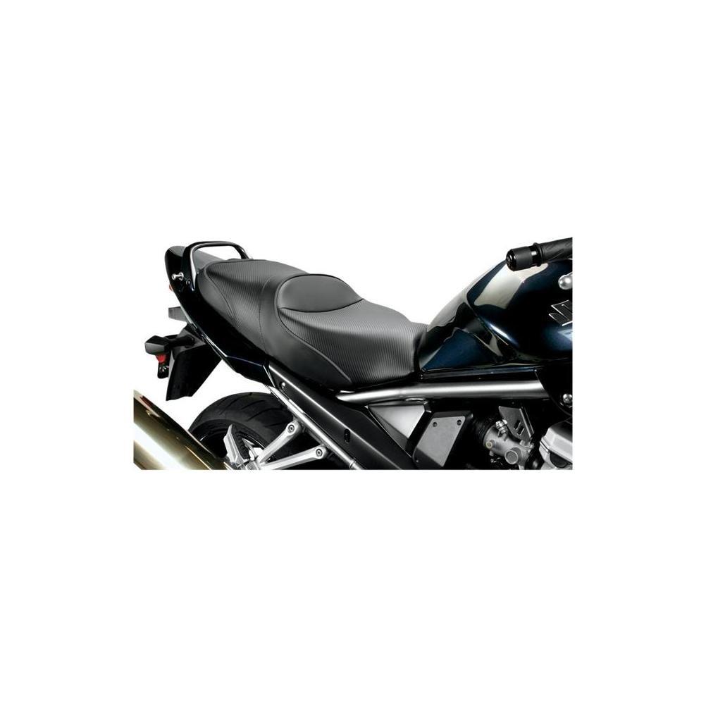 Sargent World Sport Seat Standard Blk/Blk Accent for Suzuki GSX650F Bandit 1250