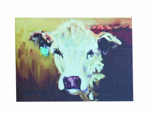 Creative Co-op DA2247 Canvas Cow Image Wall Décor
