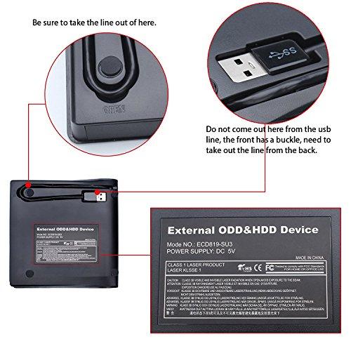 External USB 3.0 DVD Drive, Mougerk USB 3.0 Ultra Slim Portable CD DVD RW Reader Writer Burner Drive for Windows 10 Laptop Desktops Apple Mac Macbook Pro White by Mougerk (Image #5)
