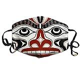 KZ MASKS Unisex Bear Tattoos Totem Printed Cotton Mouth-Masks Face Mask Polyester Anti-dust Masks