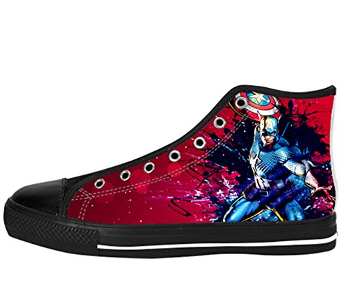 Womens Canvas High Top Shoes Captain America Design Captain Shoes07 VvUrUQ0