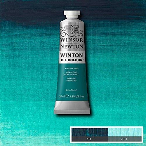 (Winsor & Newton Winton Oil Paint Tube Artist Art 37ml & 200ml ALL COLOURS (Viridian Hue, 200ml) by Winsor & Newton)