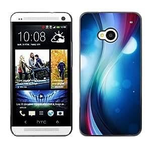 Caucho caso de Shell duro de la cubierta de accesorios de protección BY RAYDREAMMM - HTC One M7 - Remolino del color
