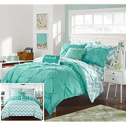amazon king bedding set bed dp mainstays mint distressed chevron com