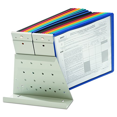 DURABLE Vario 20-Panel Desktop Reference System, Assorted Color Borders (536100) by Durable (Image #8)