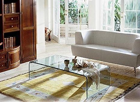 Tavolino Ponte Vetro.Tavolino In Vetro Da Salotto Ponte Cm 110 X 50 X H 38 Sp 10 Finitura Marrone Art T07c 06