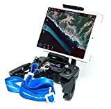 Fstop Labs Remote Controller Device Holder for DJI Mavic Air Pro Platinum, Spark, Foldable 4-10 Inch Phone Tablet Extended Mount + Neck Strap Accessories