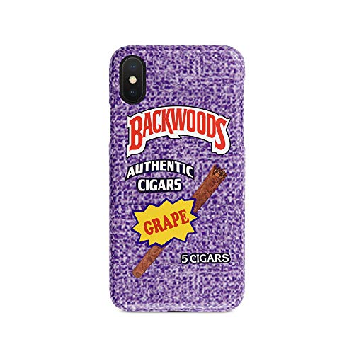 (BrilliantCustoms New Rare Backwoods Cigarillo Smoke Roll Durable Strong up iPhone Case | iPhone 5,5s, SE, 6,6+,7/8, 7/8+, X, XS, XR, XS Max | Grape Russian Cream Vanilla (Grape, iPhone Xs Max) )
