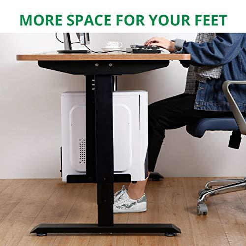 Eureka Ergonomic Computer Cart Height-Adjustable Mobile CPU Stand Suitable for Standing Desk Converters Black by Eureka Ergonomic (Image #2)