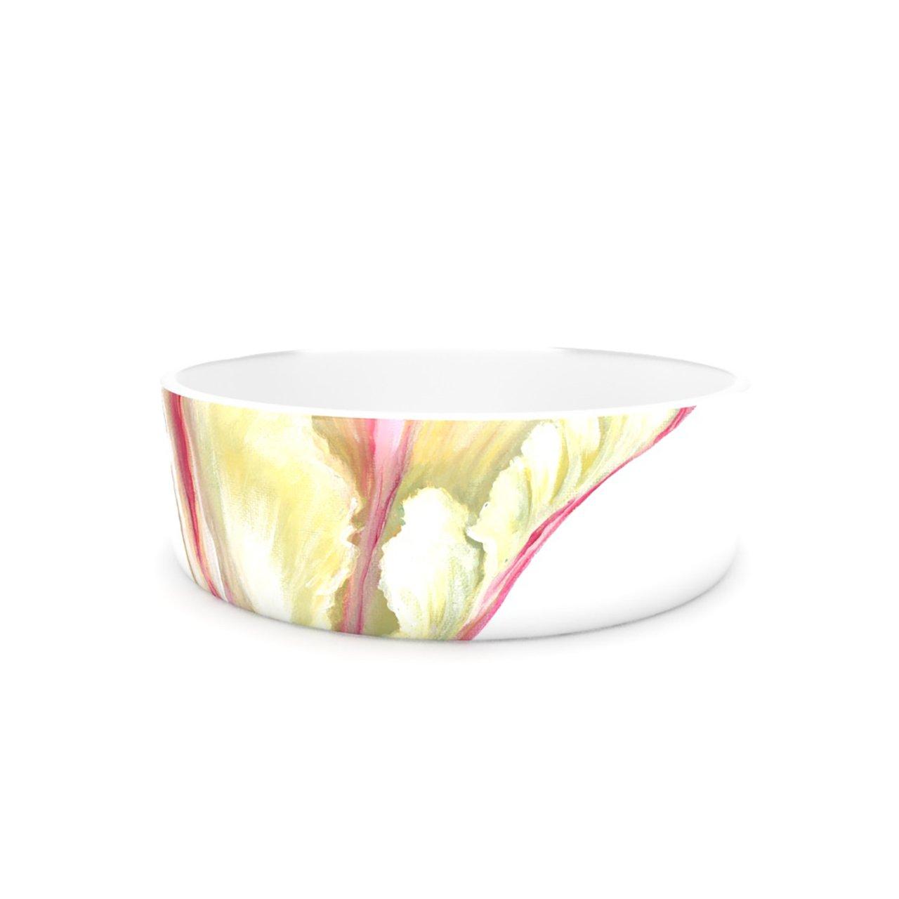 Kess InHouse Lydia Martin Red Tip Tulip Pet Bowl, 7-Inch