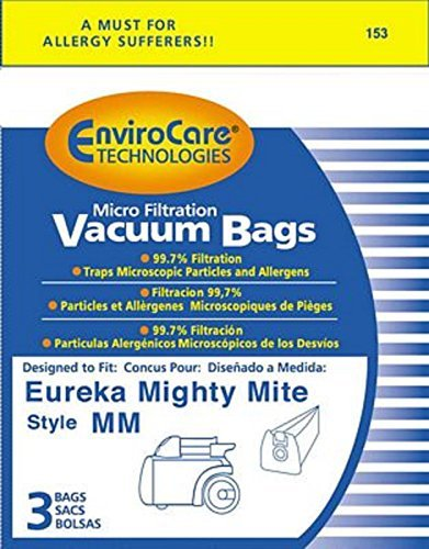 Sanitaire Commercial & Eureka Mighty Mite Canister MM Bags 3Pk Generic Part # 153 - Bags 3 Pack Generic