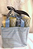 New Yankee Candle 2 Scent 9pc Decorative Bag Gift Set with 2 Small Tumblers 4 Votive Candles and 2 Glass Polka Dot Votive Holders