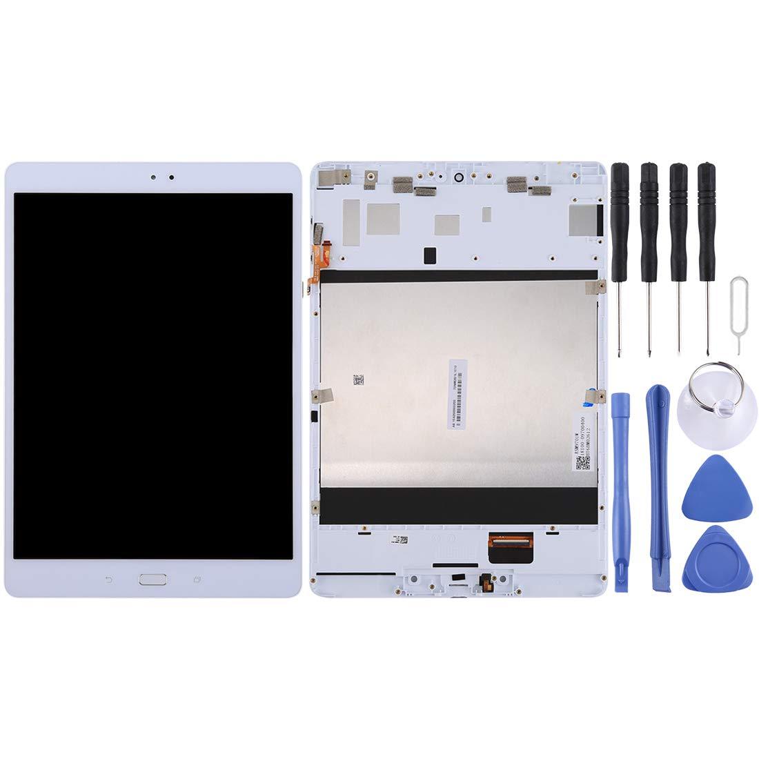 【爆売り!】 GzPuluz ASUS用修理交換用パーツ/ Asus ZenPad 3S 10/ : ZenPad Z500M/ Z500/ P027(グレイ)用のフレーム付き液晶画面とデジタイザーのフルアセンブリ スマホ修理パーツ (色 : 白) 白 B07Q6121QZ, ジャパネジ:3edc3f06 --- a0267596.xsph.ru