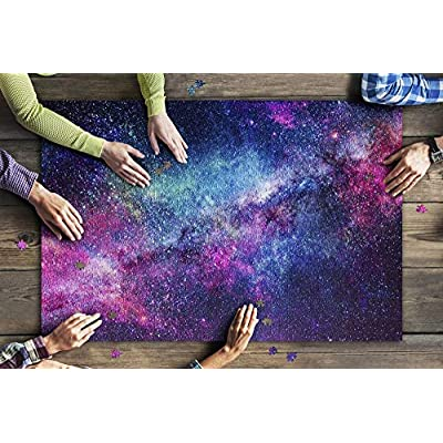 Colorful Galaxy of Stars 9031398 (Premium 1000 Piece Jigsaw Puzzle for Adults, 20x30, Made in USA!): Toys & Games