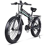 51K9AXudKvL. SS150 sheng milo 26 Pollici Fat Tire Electric Bike 1000W 48V Snow E-Bike Shimano 21 velocità Beach Cruiser Mens Women Mountain…