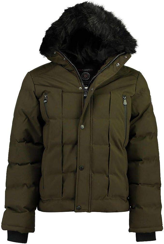 Abrigo para hombre con acolchado de fantas/ía y capucha fija Geographical Norway modelo Damiel Hood