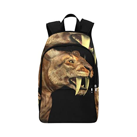 c58e2e45037a Amazon.com: A Huge Saber-Toothed Tiger Casual Daypack Travel Bag ...
