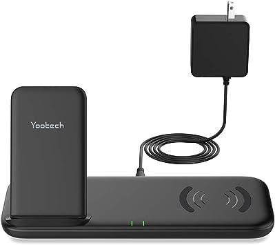 Amazon.com: Yootech - Cargador inalámbrico doble rápido con ...