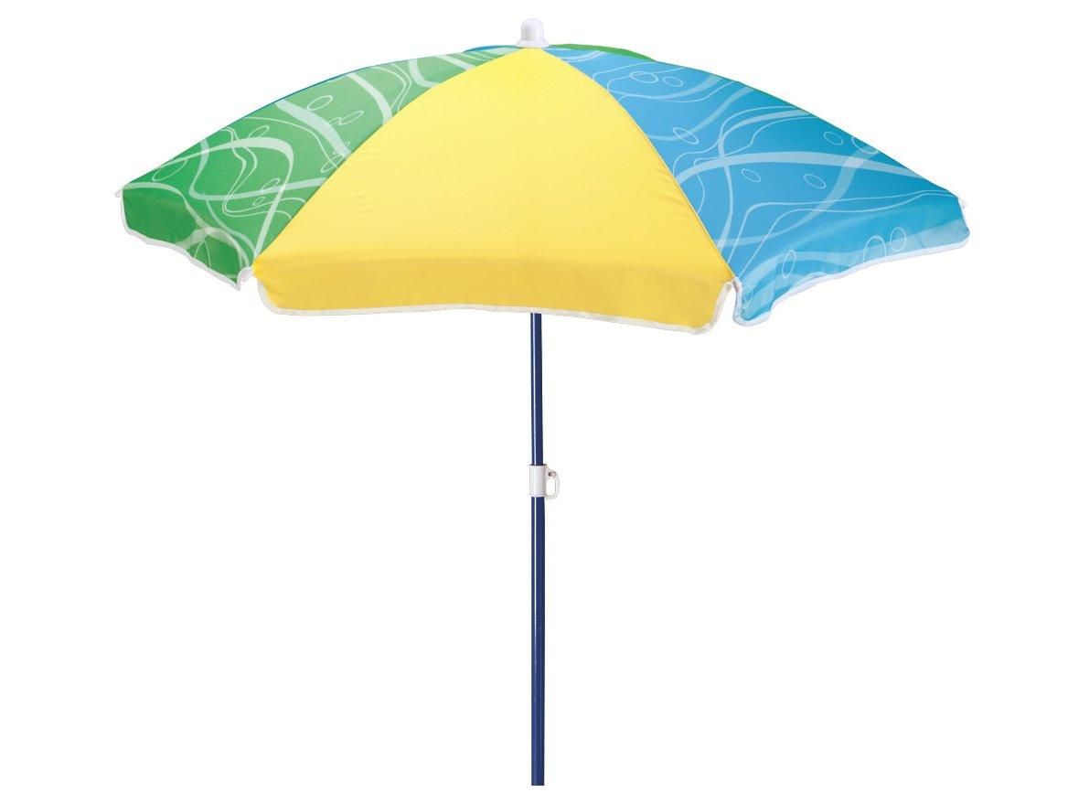 Step2 42 Inch Seaside Umbrella for Sand and Water Table - Kids Durable Beach Camping Garden Outdoor Play Shade Step 2 853199