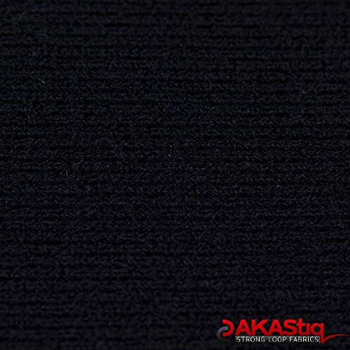 AKAStiq Wide Loop Fabric (Made in USA, Black, sold by the yard)