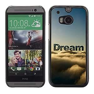 TECHCASE**Cubierta de la caja de protección la piel dura para el ** HTC One M8 ** Dream Clouds Sky Text Nature Hope