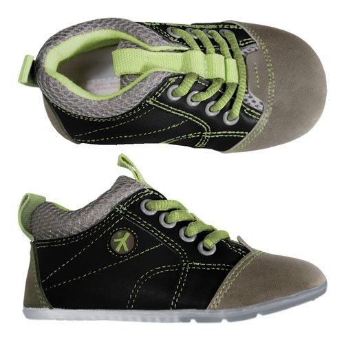 Barefoot Preschoolians Black Grey Lime Trecka Jumping Lace Running 1ErSwq1