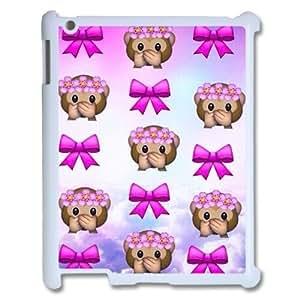 Cute Monkey Emoji Hard Back Durable Case for Ipad2,3,4,diy Cute Monkey Emoji case