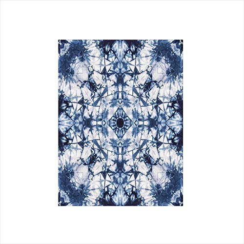 - Decorative Privacy Window Film/Old Fashion Kaleidoscope Loose Unfold Motley Pattern with Inner Outer Layers/No-Glue Self Static Cling for Home Bedroom Bathroom Kitchen Office Decor Indigo Grey