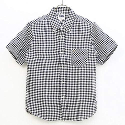 ダブルガーゼチェックボタンダウンシャツ 20S-PBDS2 メンズ 日本製 半袖