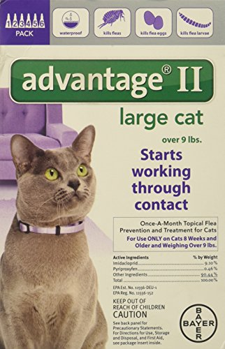 Advantage Bayer II, Cat, Over 9 lbs, 6pk