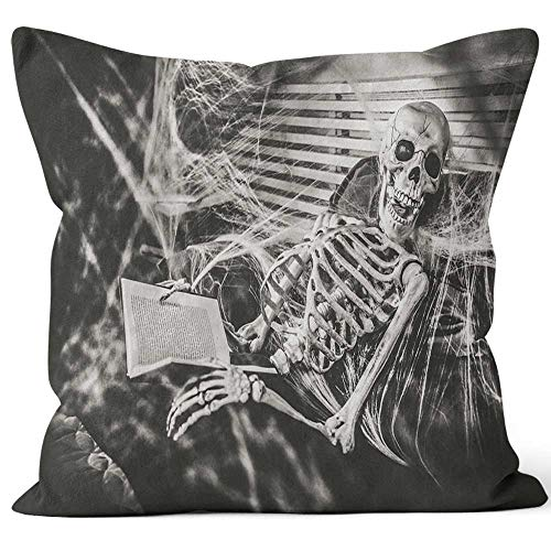 Nine City Halloween Bedtime Stories Home Decorative Throw Pillow Cover,HD Printing Square Pillow case,24