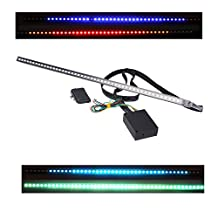 docooler High-brightness Knight Rider Lights Lighting Bar 5050 SMD 48 LED 7 Colors 130 Modes 12V with Remote Control