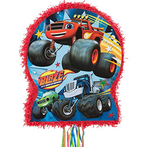 Ya Otta Pinata Pull String Blaze and the Monster Machines Pinata, 2lb Filler Capacity, 17 1/2 x 21 1/2 x 3 Inches]()