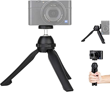 DURAGADGET Deluxe Flat Folding Camera//Camcorder Tripod Stand for Sony Cybershot TX10 W560 /& Bloggie Touch WX7 HX7V WX10