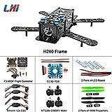 Drone Repair Parts - LHI 250mm Pro Pure Carbon Fiber Quadcopter Frame Kit + CC3D Flight Controller + MT2204 2300KV Motor + Simonk 12A ESC + 6030 CF Propeller Prop