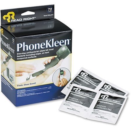 Phonekleen Wet Wipes Cloth (Read Right PhoneKleen Wet Wipes Cloth 5 x 5 72pk WLM )