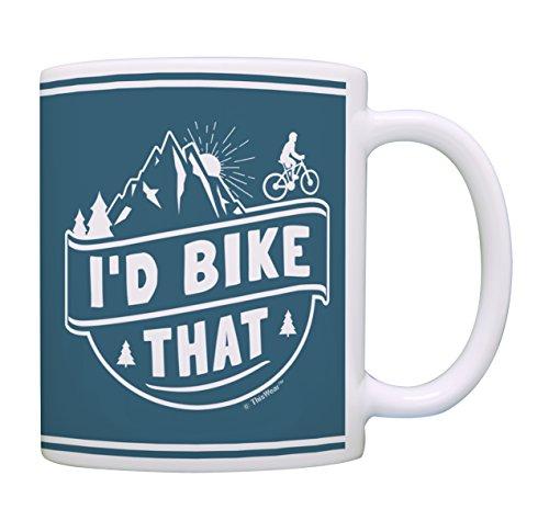 Cyclist Gifts I'd Bike That Mountain Bike Gifts for Men and Women Mountain Bike Lover Gifts Bike Cup Bicyclists Gifts for Men and Women Cyclist Mug Coffee Mug Tea Cup Bike (Best Gifts For Cyclists)