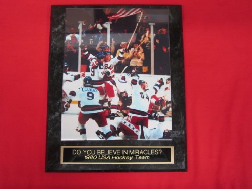 USA Hockey 1980 Olympic Gold Medal Team Collector Plaque w/8x10 CELEBRATION Photo