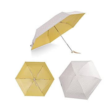Creative Moda Mini 50% Paraguas De La Mujer Paraguas PequeñO Fresco Floral Estudiante Paraguas ,
