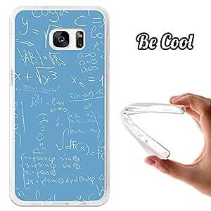 BeCool® - Funda Gel Flexible Samsung Galaxy S7 Edge BeCool Fórmulas Matemáticas Azul Carcasa Case Silicona TPU Suave