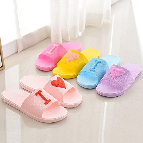 Chaussures Femmes Douche Salle Eizur Hommes Pantoufles Pour Pantoufle Les Piscine Jaune Sandales Amoureux Maison Eté Antidérapant Bain Plage De Unisexe Chaussons HqTEqwPgO