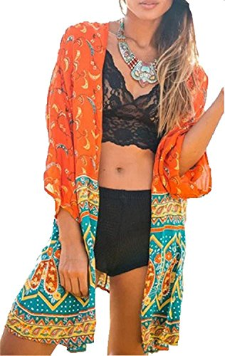 Cover Dentelle Up de Peach Orange Little Bain Floral Plage Robe Maillots Bikini Et L Peach Paro de Femme 7n1zZ
