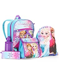 Disney Frozen 5pc Kids School Set - Backpack, Lunch Bag, Sling Bag, Water Bottle and Pencil Case